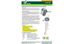 Radio Frequency (RF) Capacitance Point Level Indicator - Datasheet
