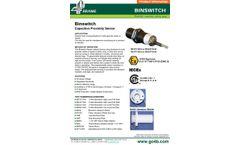 Binswitch Capacitive Proximity Sensor - Datasheet