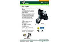 WDA High Power Extended Range Magnetic Proximity Sensor - Datasheet