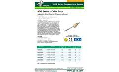 ADB Series –Cable Entry Adjustable Depth Bearing Temperature Sensor - Datasheet