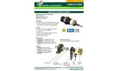 P3003 & P3004 Inductive Proximity Sensor - Datasheet