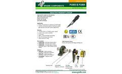 P1003 and P1004 - Inductive Proximity Sensor - Datasheet