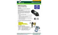 P800 Proxswitch Inductive Proximity Sensor - Datasheet