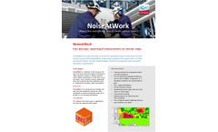 NoiseAtWork - Fast and Easy Reporting of Measurements as Contour Maps Software - Brochure