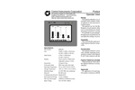 Touch Screen Operator Interface -  4 Channel Specifications (PDF 28 KB)