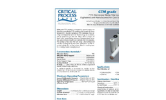 Model GTM - Teflon Membrane Media Filter Cartridges Brochure