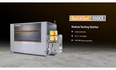 QuickSun 550CE Module Testing Station by Endeas - Video