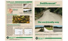 SoilSement - Liquid Polymer Emulsion For Natural Pavements - Brochure
