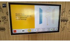 The Photovoltaic Glass installed by Mcdonalds in Walt Disney, Florida - Video