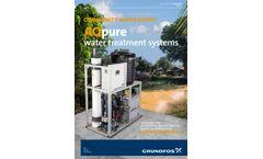 AQpure - Water Treatment System - Brochure