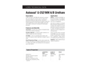 Autoseal - Model U-2521NM A/B - Urethane Datasheet