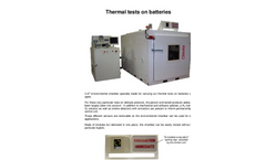 Environmental Chamber for for Tests on Battery Brochure