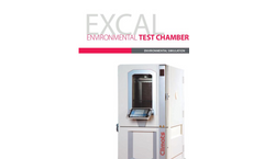 Model ESS EXCAL Range - Fast Change Rate Environmental Test Chamber - Brochure