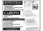 GEOSYNTHETICS, GEOTEXTILE, GEOBAGS AND GABIONS - GEOTEXTILE & GABIONS NIGERIA LTD
