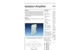 Model AD-TV 2 GX - Isolation Amplifier - Datasheet
