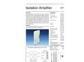 Model AD-TV 3 GX - Isolation Amplifier - Datasheet
