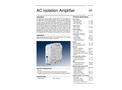 Model AD-TV 591 GS - AC Isolation Amplifier - Datasheet