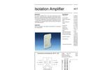 Model AD-TV 1 GX - Isolation Amplifier - Brochure