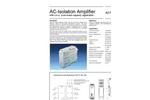 Model AD-TV 581 GS - AC-Isolation Amplifier Brochure