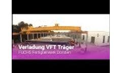 Loading of VFT beams for the A43 in the FUCHS precast plant Dorsten Video