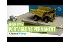 What is a Wash Bay - Portable Wash Bay vs Permanent Wash Bay Equipment Video