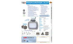 LEDtronics - Model EPL001-040W-XPW-101W - LED Hazardous Location Flood Lights Brochure