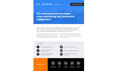 Casper Noise - Internal Noise Management Tool for Airports - Brochure