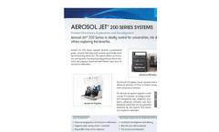 Aerosol Jet - Model 200 Series - Printer - Datasheet