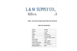 Heavy Duty Orange Diamond Safety Fence - Specification Sheet