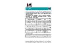 L & M - Model 270HP - High-Performance / High Strength Geotextiles - Datasheet