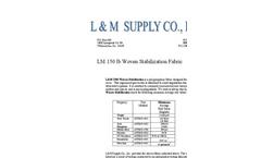 L & M - Model LM 150 - 150 lb - Tensile Woven Stabilization Fabric - Datasheet
