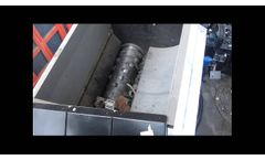 Single Shaft Shredder (XK Hydraulic) for Aluminum Profiles and Scraps Recycling – Video