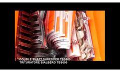 Plastic Reel Double Shaft Shredder TBS600 - Video