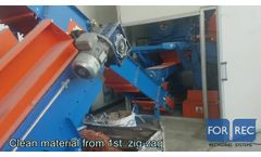 Single Shaft Shredder (XK Hydraulic) for the Recycling of Pressed Cans - Forrec Recycling - Video