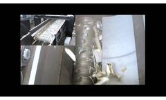 Single Shaft Shredder (XK Hydraulic) for Aluminum Profiles Recycling - Forrec Recycling - Video