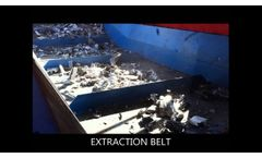 Recycling of Metal Scraps by four Shaft Shredder - Video