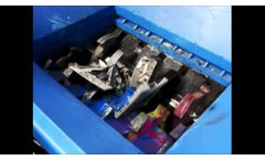 Double Shaft Shredders / Multicrushers for WEEE - Copiers and Printers Recycling - Video