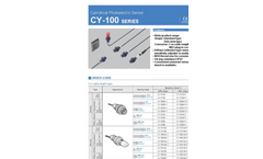Model CY-100 series - Universal Photoelectric Sensors - Brochure
