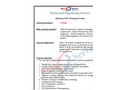 Advanced RO Training Course Brochure