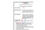 RO Training Course for Intermediates Brochure