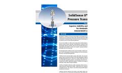 SolidSense - Model II - Industrial Pressure Transducers & Transmitters Brochure
