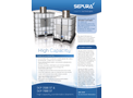 Sepura - Model SEP 3500/7000 ST - Single Use Quick Fit Condensate Cleaners  Brochure