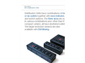 Bulgin Elektron - Model PXD200-PXD201 Series - 4 Outlets IEC Power Distribution Block Units Brochure