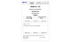 EEMB - Model Li - Polymer Rechargeable Battery Brochure