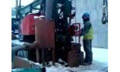 WaterWell drilling at winter in England 2010 - Video