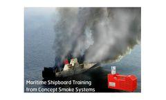 Smoke generator device for maritime shipboard fire training