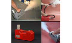 Smoke generator devices for lev testing, spray booth clearance testing & air tracing