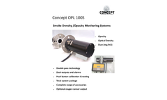 Concept OPL 100S Smoke Density /Opacity Monitoring Systems - Brochure