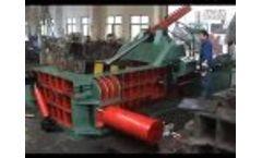 Metal baler from China Video