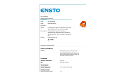 Ensto - Model FPT1010PP46 - Fire Protection Junction Box Brochure